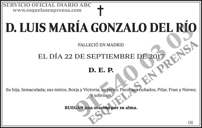 Luis María Gonzalo del Río